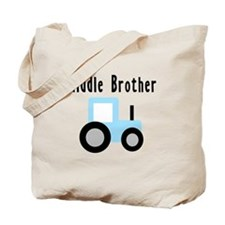 Middle Brother - Light Blue T Tote Bag