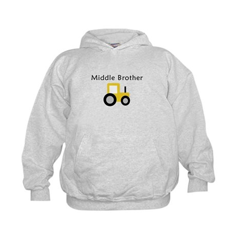Middle Brother - Gold Tractor Kids Hoodie