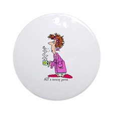 Not a Morning Person Ornament (Round)
