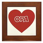 Love Opa Framed Tile
