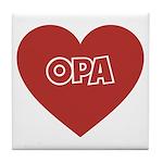 Love Opa Tile Coaster