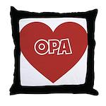 Love Opa Throw Pillow