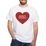 Love Opa White T-Shirt