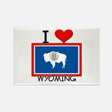 I Love Wyoming Rectangle Magnet