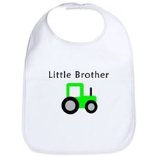 Little Brother - Lime Tractor Bib