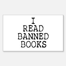 Banned Books Rectangle Bumper Stickers