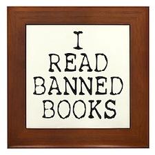 Banned Books Framed Tile
