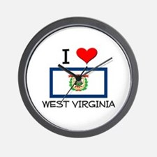 I Love West Virginia Wall Clock