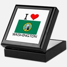 I Love Washington Keepsake Box