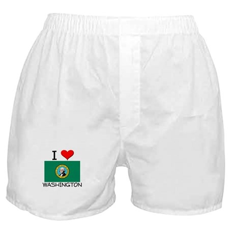 I Love Washington Boxer Shorts