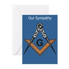 Masonic Sympathy Greeting Cards (Pk of 20)