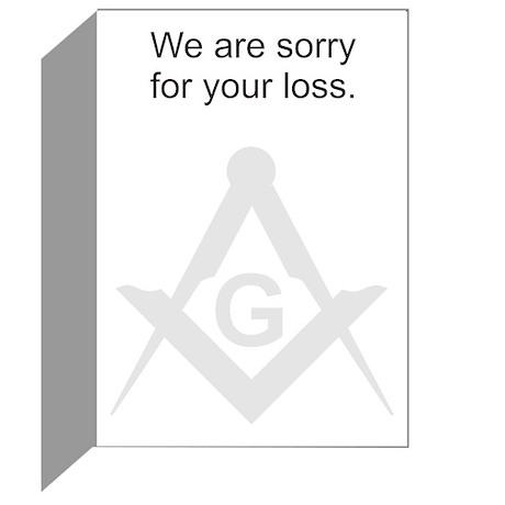 Masonic Sympathy Greeting Cards (Pk of 10)