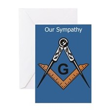 Masonic Sympathy Greeting Card