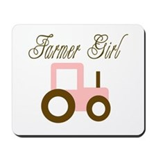 Farmer Girl - Pink/Brown Trac Mousepad