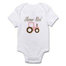 Farmer Girl - Pink/Brown Trac Infant Bodysuit