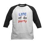 LIFE OF DA PARTY Kids Baseball Jersey