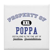 Property of Poppa Tile Coaster