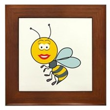 Bumble Bee Smiley Face Framed Tile