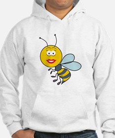 Bumble Bee Smiley Face Hoodie