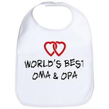 World's Best Oma and Opa Bib