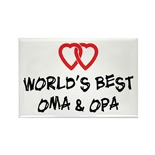World's Best Oma and Opa Rectangle Magnet