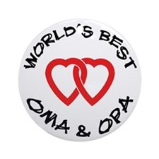 World's Best Oma and Opa Ornament (Round)