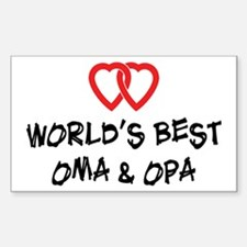 World's Best Oma and Opa Rectangle Decal