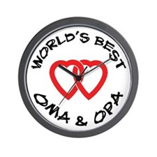World's Best Oma and Opa Wall Clock