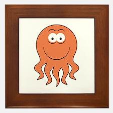 Octopus Smiley Face Framed Tile