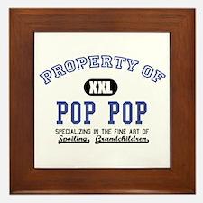 Property of Pop Pop Framed Tile