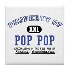 Property of Pop Pop Tile Coaster