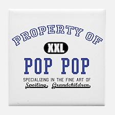 Property of Pop Pop Tile Coaster