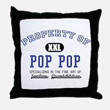 Property of Pop Pop Throw Pillow