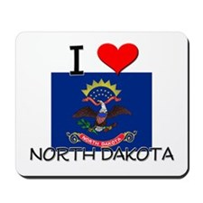 I Love North Dakota Mousepad