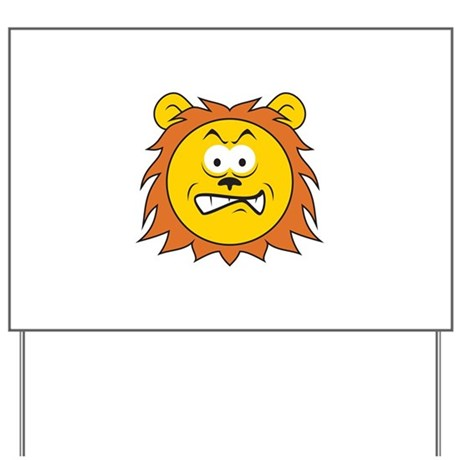 Lion Smiley Face Yard Sign by dagerdesigns
