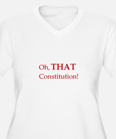 THAT Constitution! Women's Plus Size V-Neck Tee