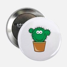 "Cute Cactus Smiley Face 2.25"" Button"