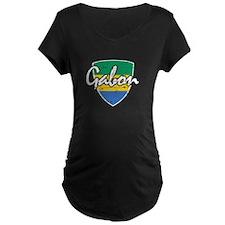 Gabon distressed flag T-Shirt