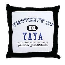 Property of YaYa Throw Pillow