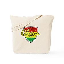 Ghana distressed Flag Tote Bag
