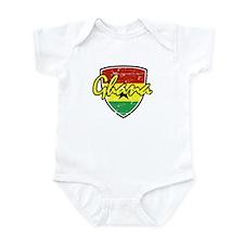 Ghana distressed Flag Infant Bodysuit