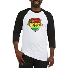 Ghana distressed Flag Baseball Jersey