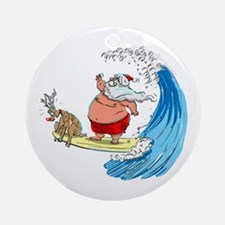 SaNtA aNd RuDoLf Ornament (Round)