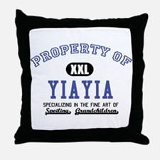 Property of YiaYia Throw Pillow