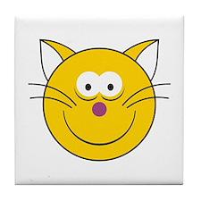 Kitty Cat Smiley Face Tile Coaster