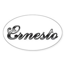 Ernesto First Name Personalized Oval Decal