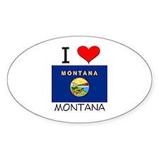 I Love Montana Oval Decal