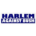Harlem Against Bush (bumper sticker)