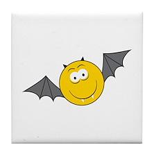 Vampire Bat Smiley Face Tile Coaster