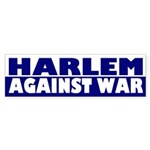 Harlem Against War (bumper sticker)